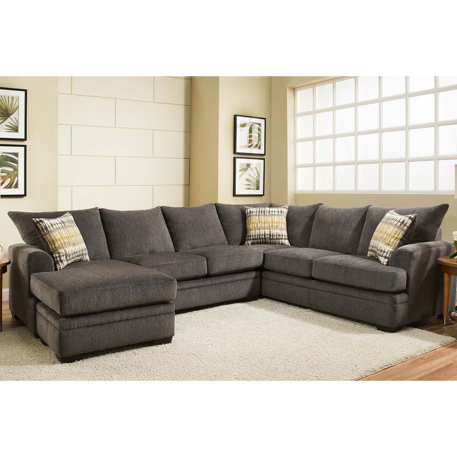 Chelsea Home Furniture Louis Sectional Sofa Perth Smoke In - Living Room Chairs Perth