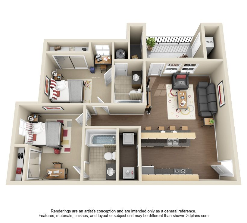 2x2 Floor Plan At The Club Home Building Design House Plans Architectural Floor Plans