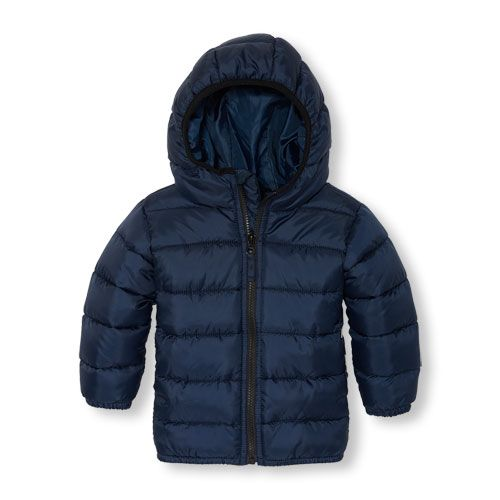 2c233485d s Toddler Boys Long Sleeve Solid Hooded Lightweight Puffer Jacket ...