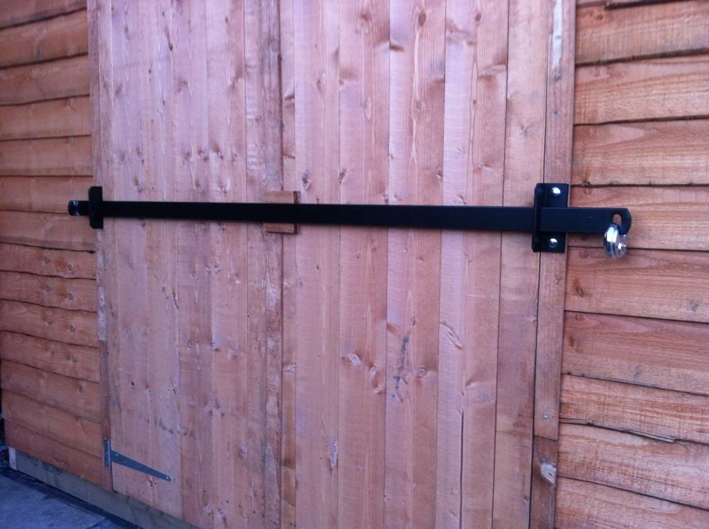 shed double door security  Other Shed security brackets also available for double sliding doors  Barn Ideas in 2019  Security door Shed