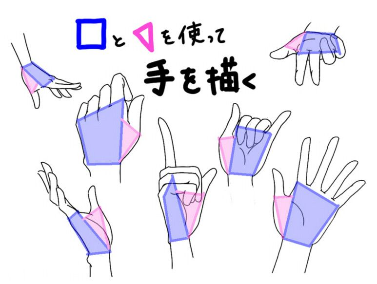 On Hands and Shapes || Pixiv