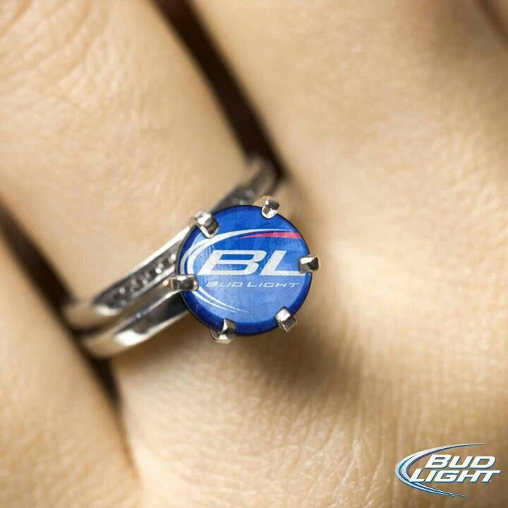 redneck engagement ring make it budweiser and i actually love this - Redneck Wedding Rings
