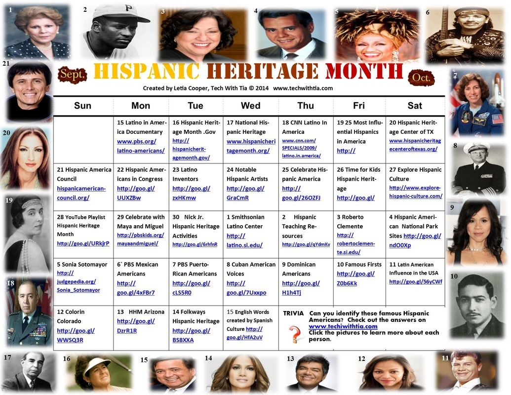 Celebrate Hispanic Heritage Month With Trivia And Websites
