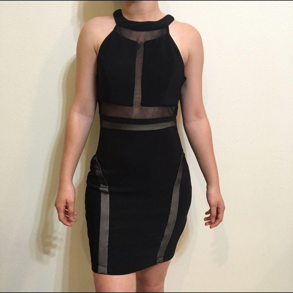 Emerald sundae black halter top bodycon dress products