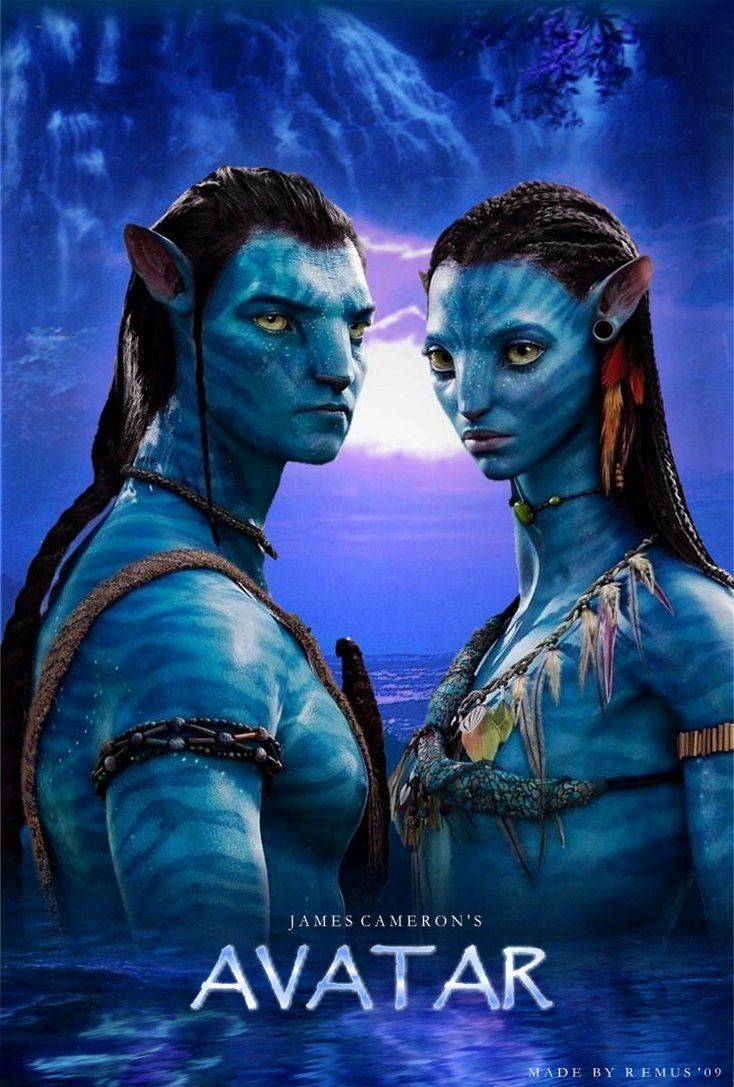 AVATAR Jake and Neytiri Fanmade Poster Made in Microsoft
