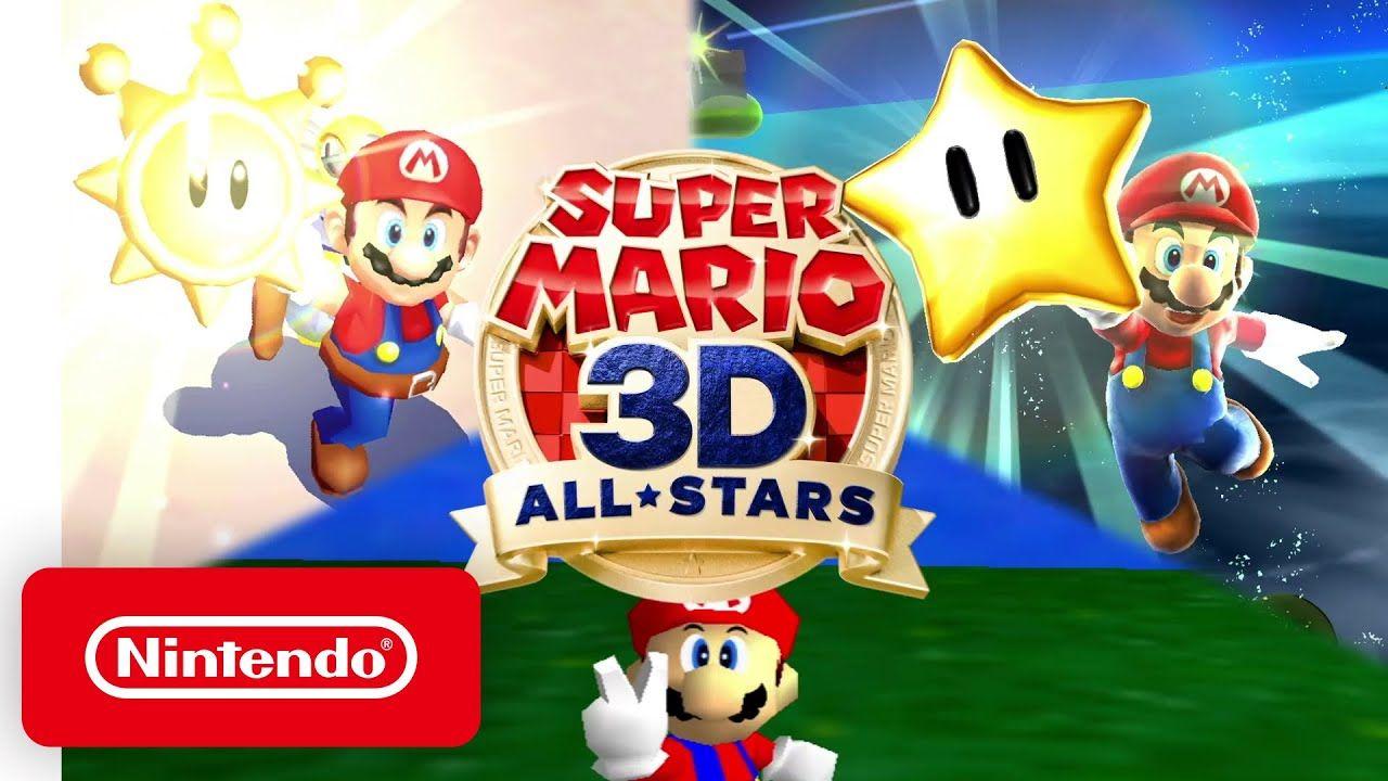 Super Mario 3d All Stars Announcement Trailer Nintendo Switch In 2020 Super Mario 3d Super Mario Sunshine Super Mario All Stars