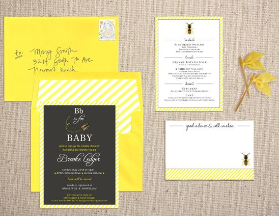 bumble bee B is for Baby shower Honey Bee Party theme