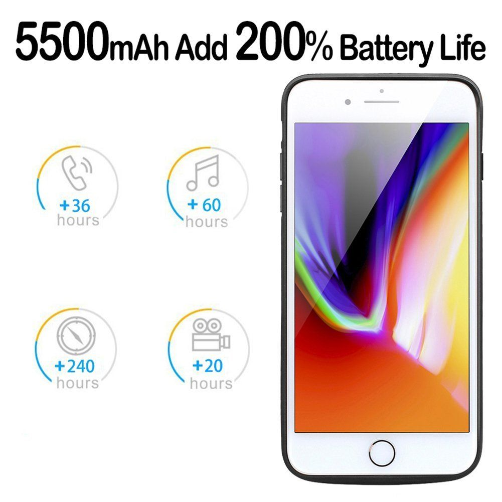 detailed look bd0a7 63e30 iphone 7 battery case, Cofuture 5500mAh Power Bank Portable Extended ...