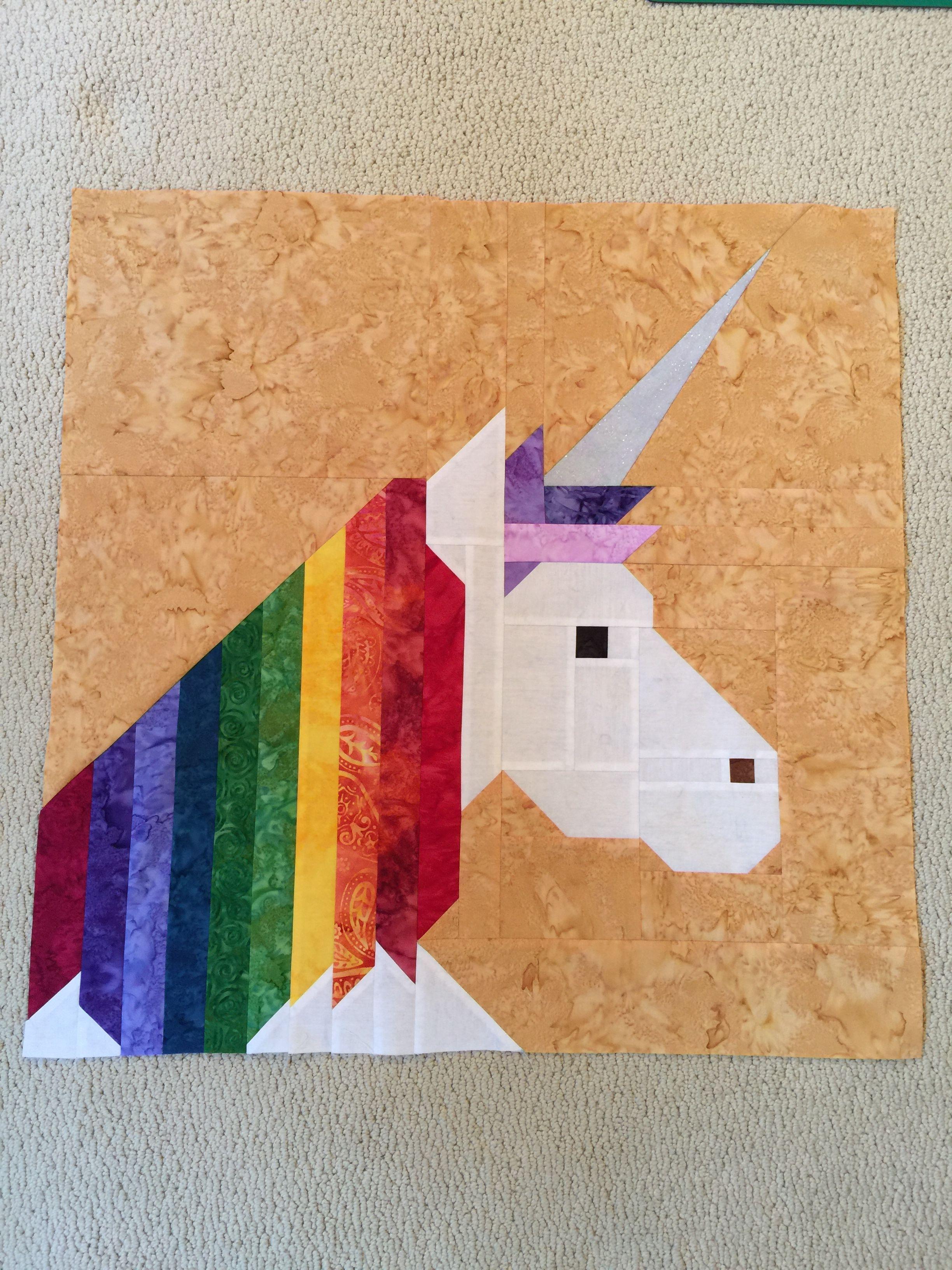 Lisa the unicorn pillow top elizabeth hartman pattern tigers