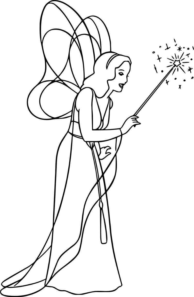 Pinocchio Blue Fairy Wand Coloring Pages Fairy Wands Blue Fairy Coloring Pages