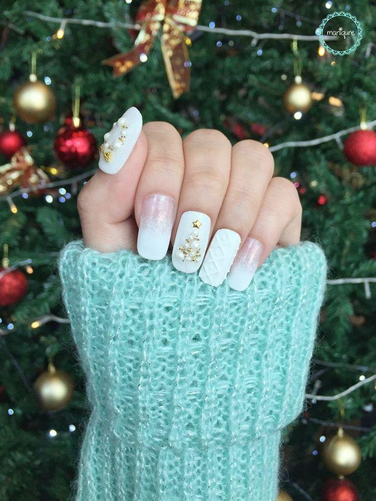 Photo of Decorazione-Natale-smalto-bianco-design-albero-decorazioni-ghirlanda-pall …