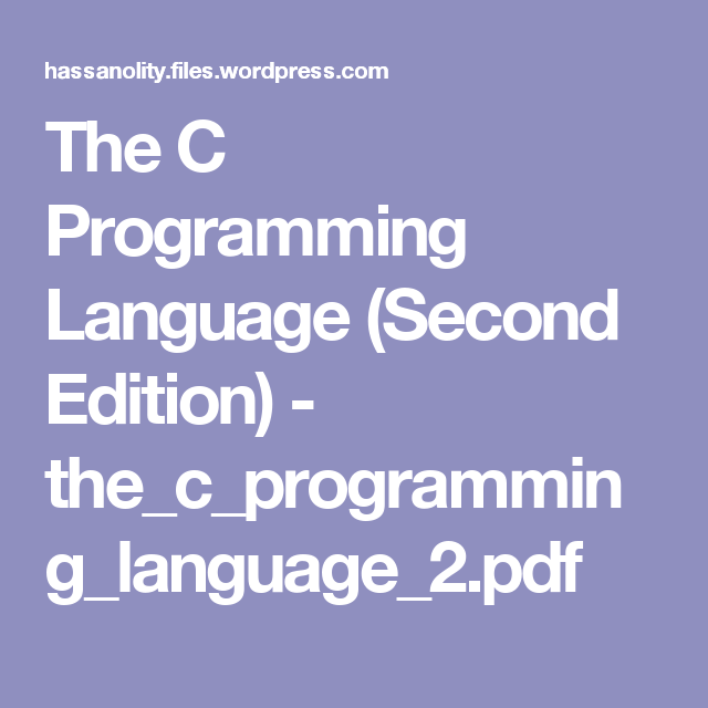 Programming language pdf c