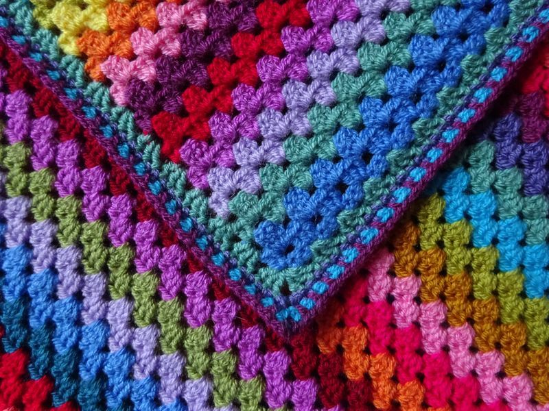 DSC00837 perfect pattern for a temperature blanket | Crochet afghans ...