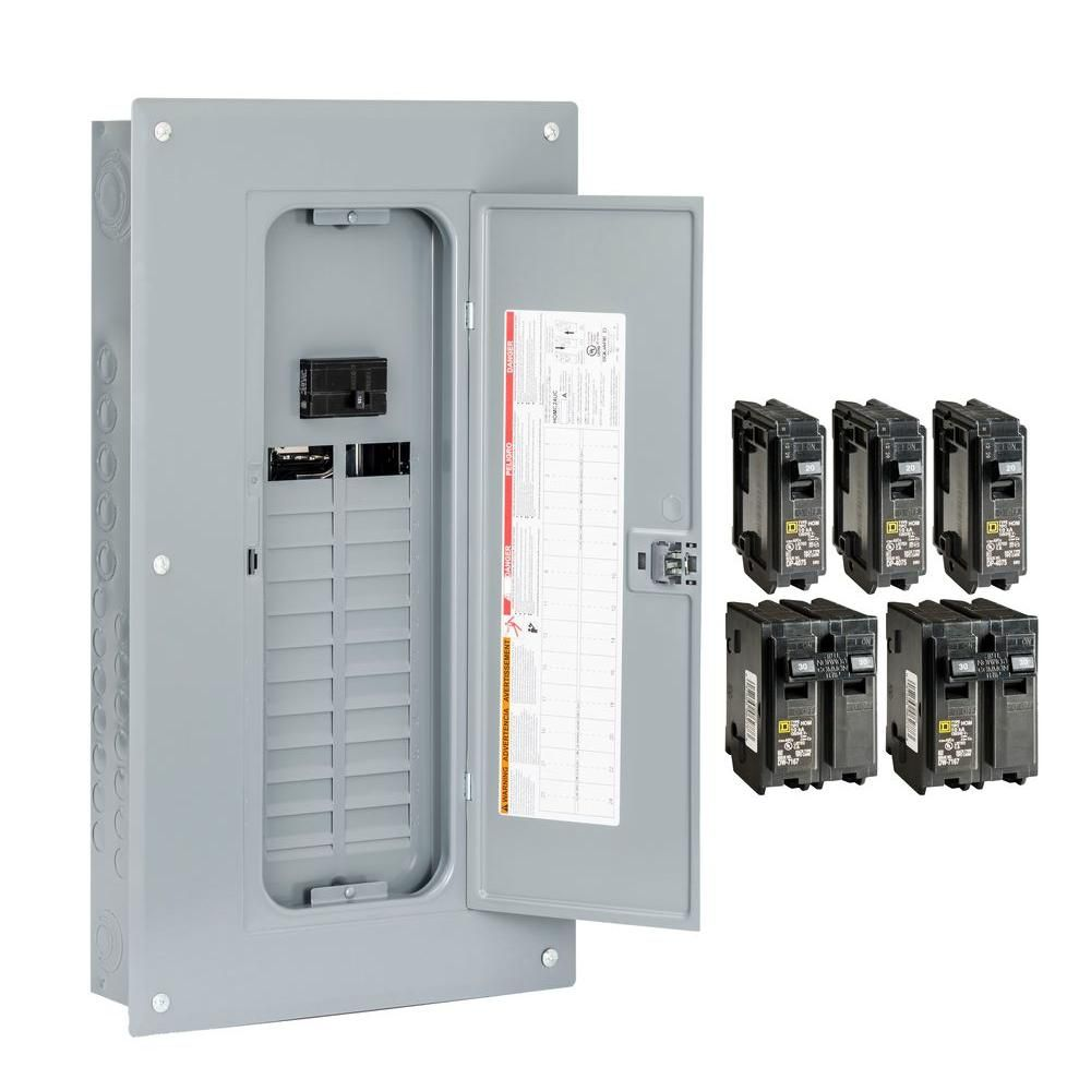 Square D QO 100 Amp Main Breaker 24-Space 24-Circuit Plug-On Neutral Load Center