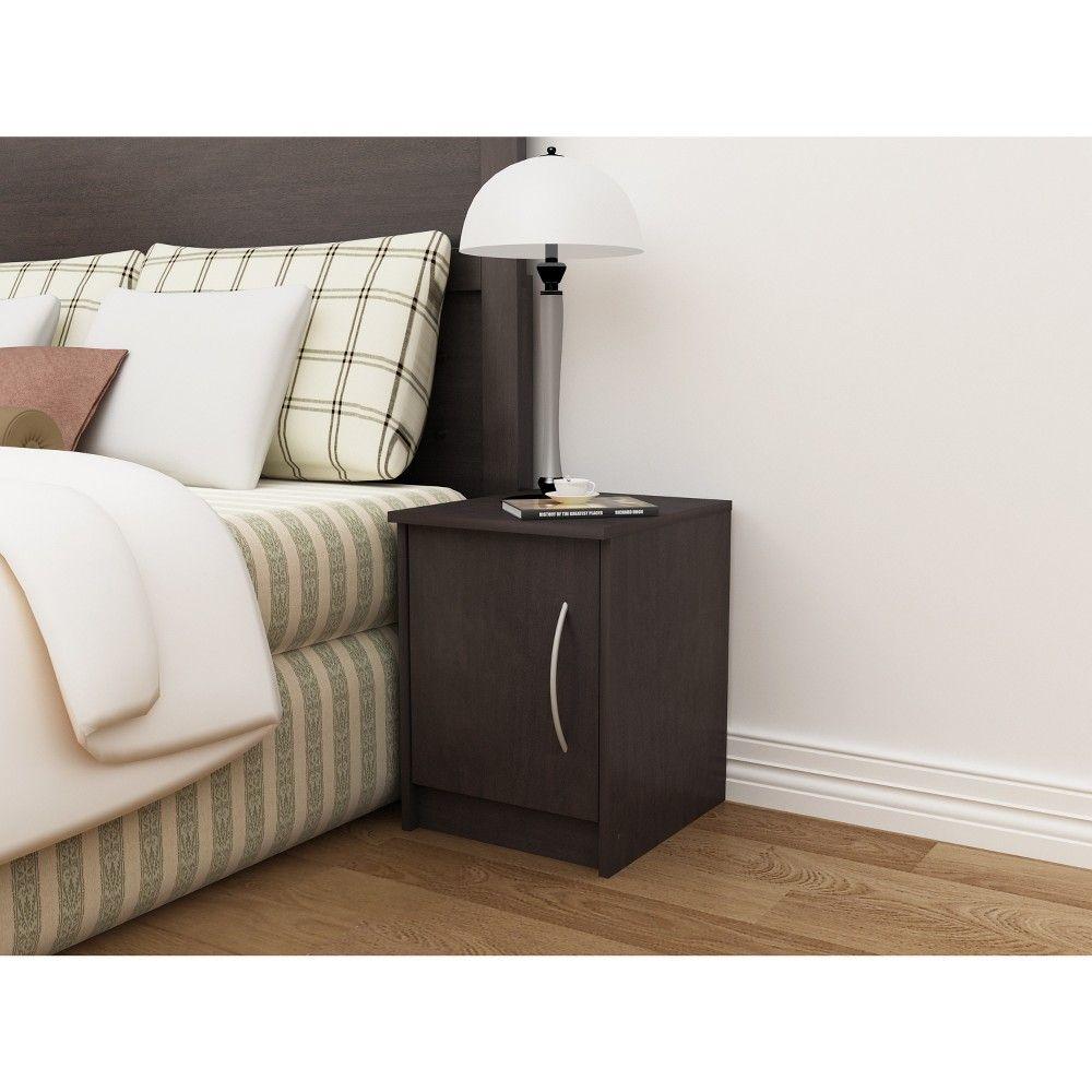 Best Addison 1 Door Nightstand Black Brown Loft 607 Blue 400 x 300