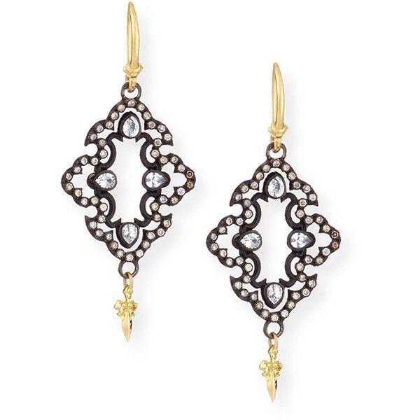 Armenta Open Scroll Diamond Drop Earrings 35UrHeR