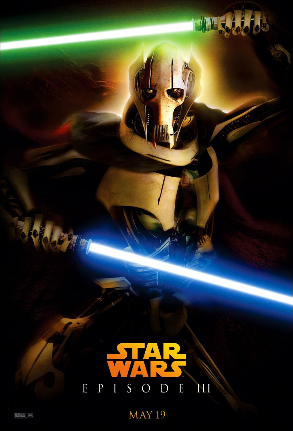 Star Wars Episode 3 Revenge Of The Sith Poster 8 Star Wars Poster Star Wars Stickers Star Wars Pictures