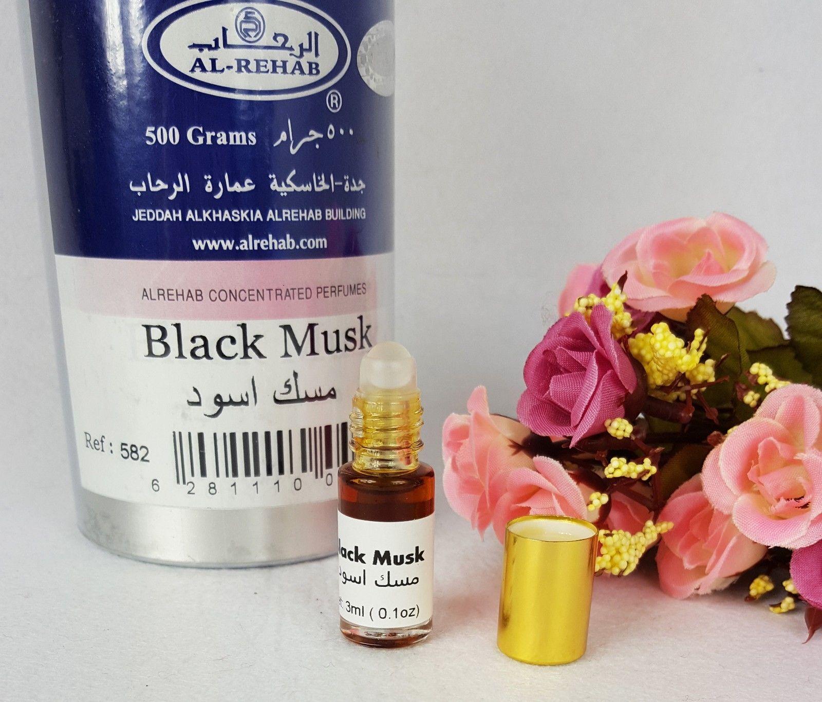 Al Rehab Black Musk Oil Perfume Wild Deer Base Roll On 3ml Parfum White Minyak Wangi