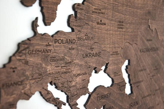 Wall map of the world map wooden travel push pin map rustic home