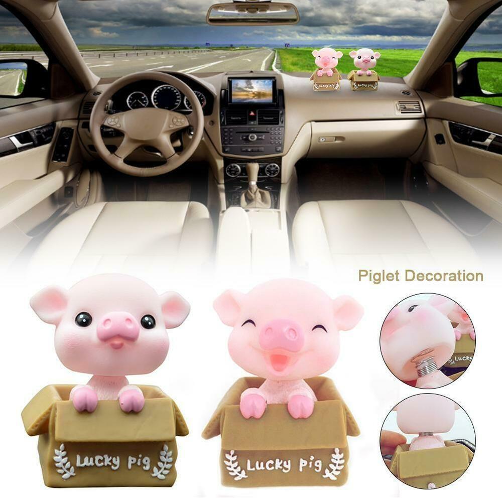 Shaking Head Pig Home Decor Car Dashboard Ornament Auto Interior Accessory Toy