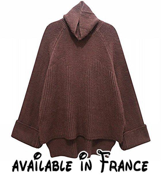 Femme Et L'hiver Couleur B075qgj36sL'automne De Solide Pull QrhstCxd