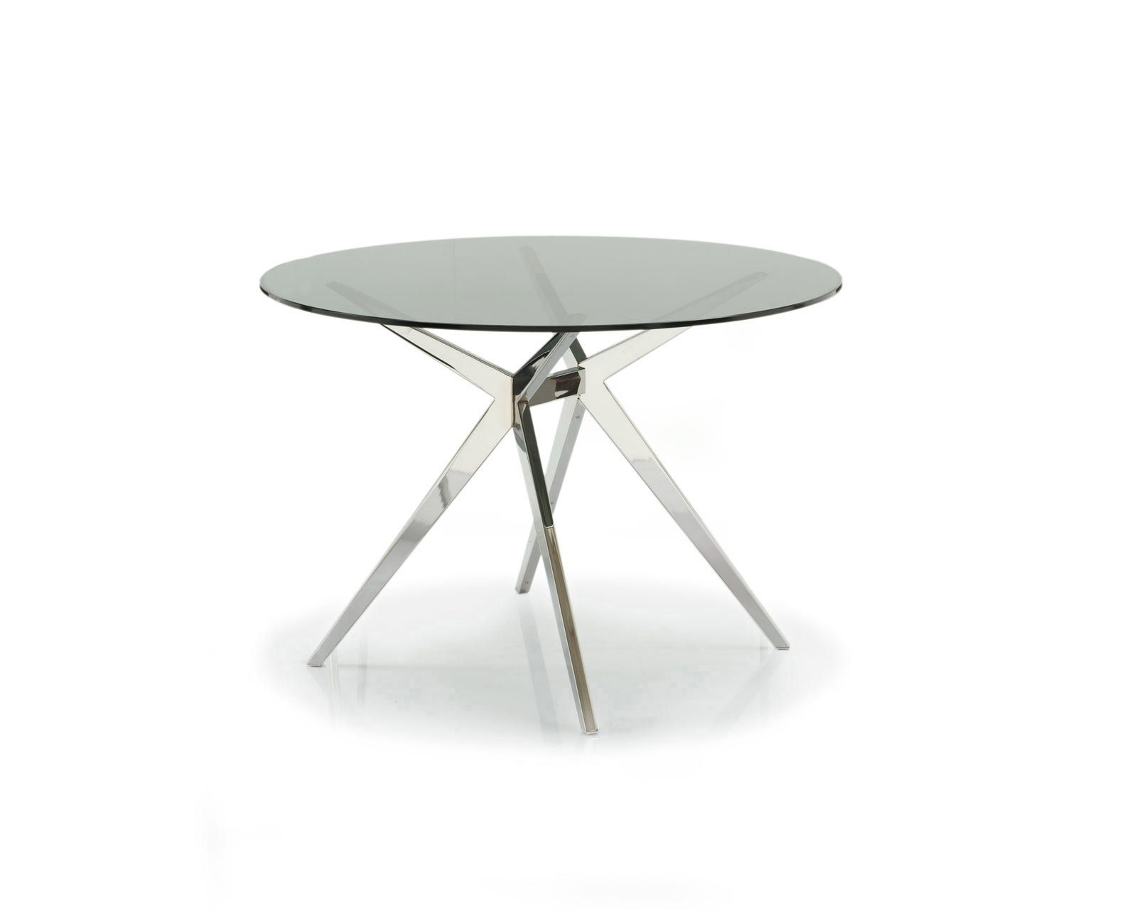 Round glass table top seating - Seven Round Glass Table Top Calligaris Cs 4042 Rd 110 G