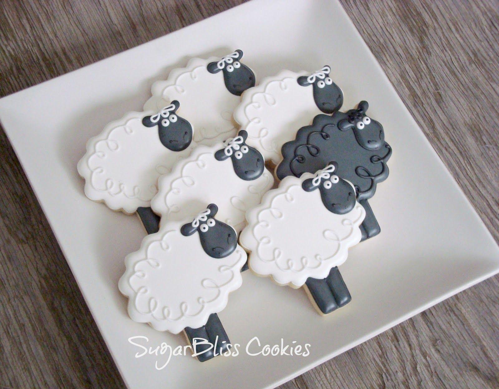 sheep sugar cookie   Thanks Jeannine!