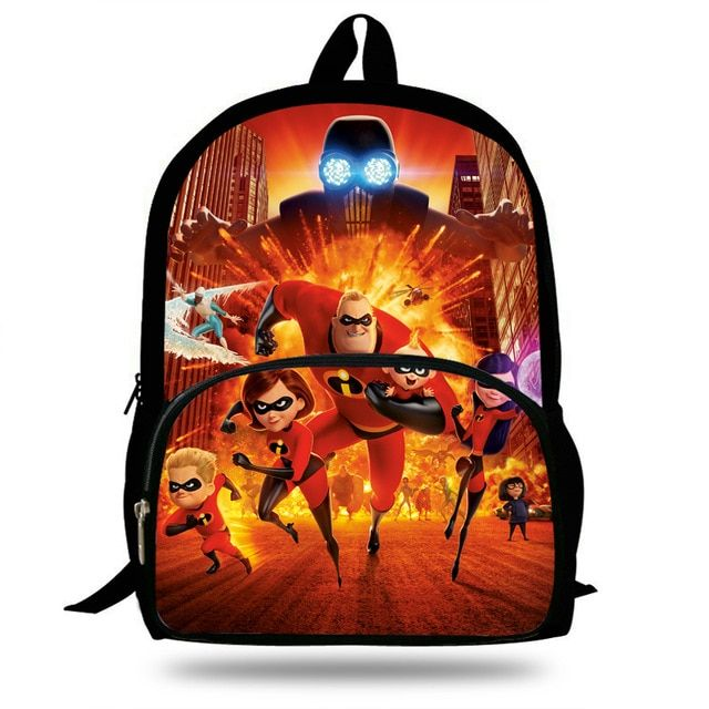 2e35f9293536 16inch Cut Superman Cartoon Bookbags Girls School bags The incredibles  Backpack Boys Trave Bag Gift Children Teenagers Review