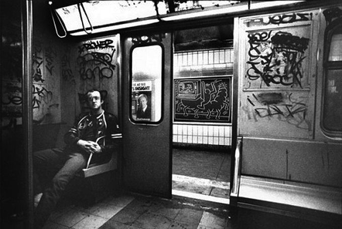 Keith Haring nella metro di New York