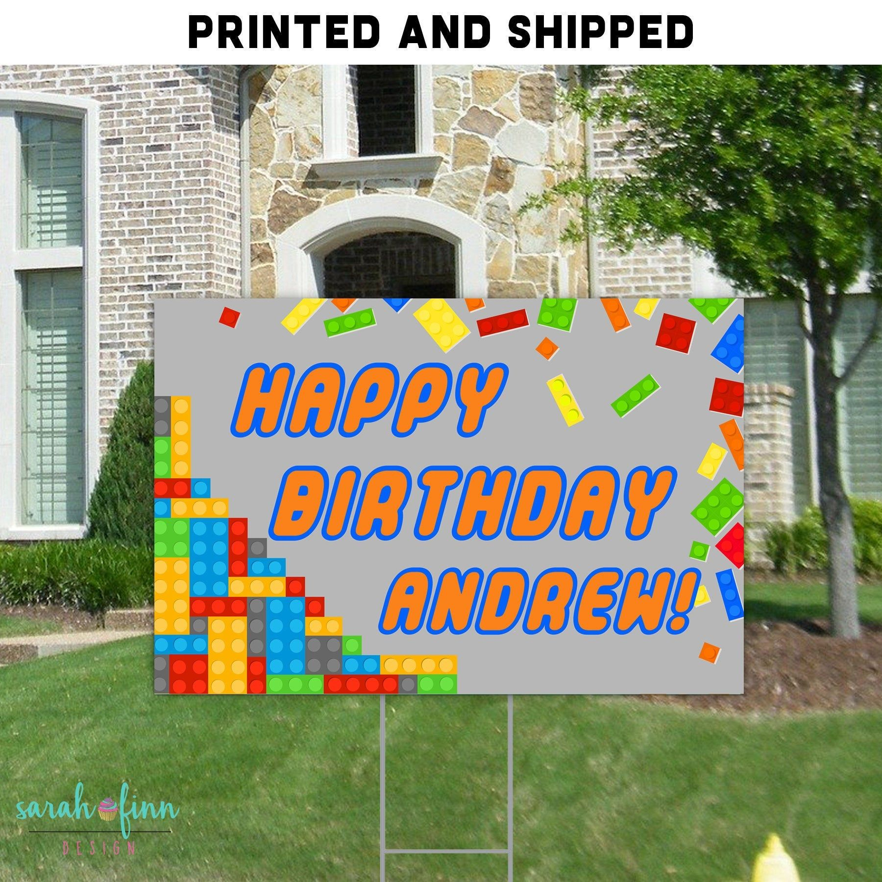 Birthday Yard Signs For Boys Sign