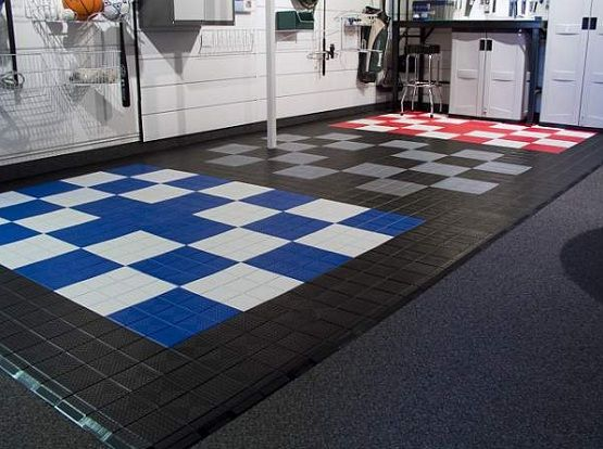 Interlocking Plastic Floor Tiles For Custom Garage Floor