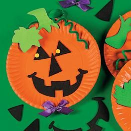Pumpkin Paper Plate Crafts For Kids #halloweencraftsfortoddlers