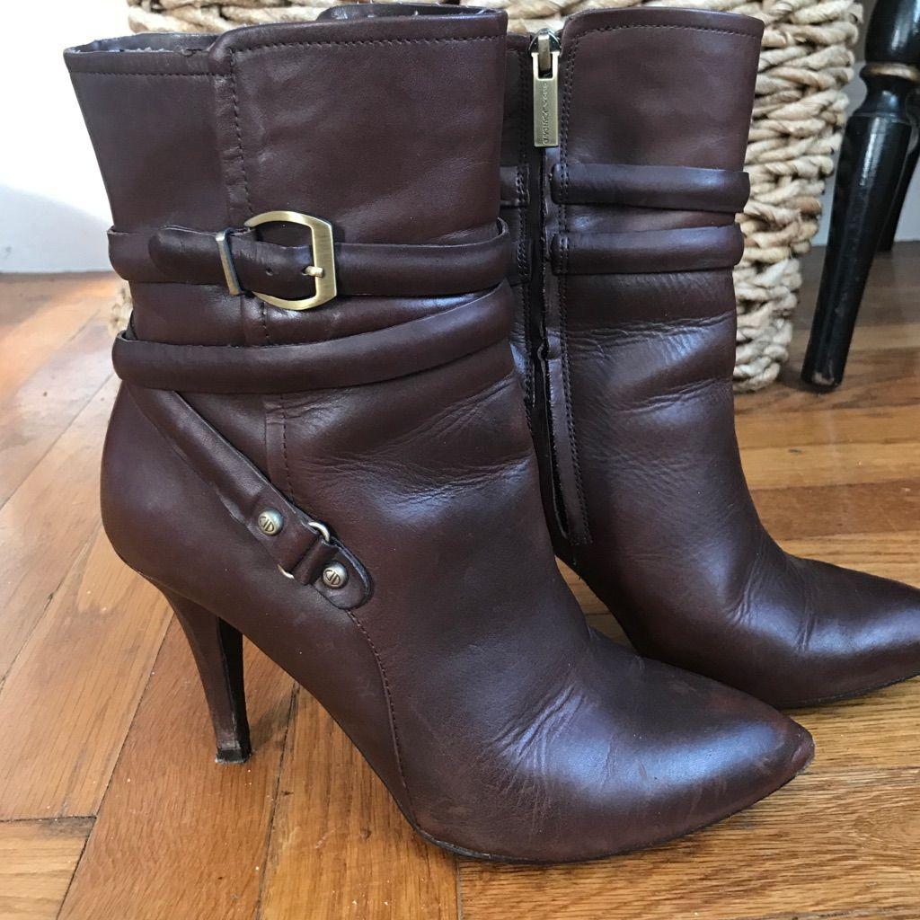 Circa Joan David Brown Heeled Boots