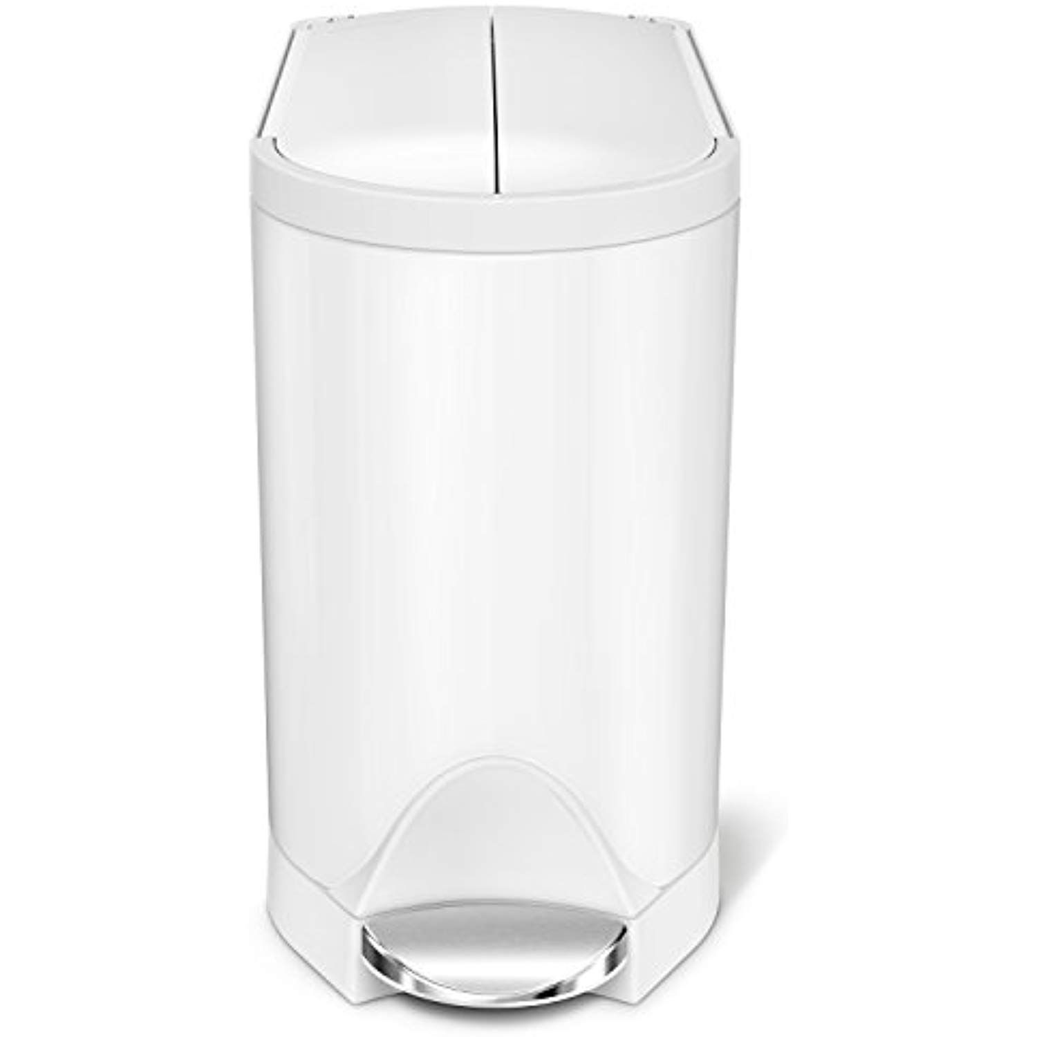 Simplehuman 10 Liter 2 6 Gallon Butterfly Lid Bathroom Step Trash Can White Steel Find Out More About The Great P Simplehuman Butterfly Bathroom Trash Can