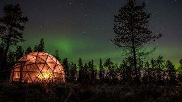 Norrskenstur med huskies » Kiruna Lappland