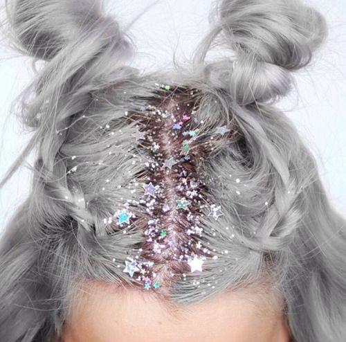 glitter i håret