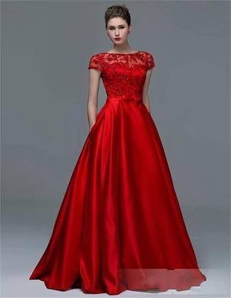 Vestidos para fiesta de noche rojos