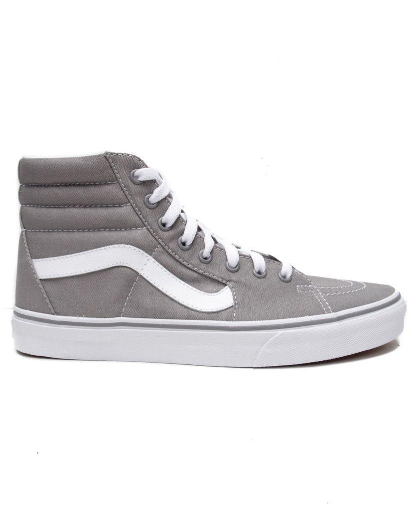 grey sk8 hi vans