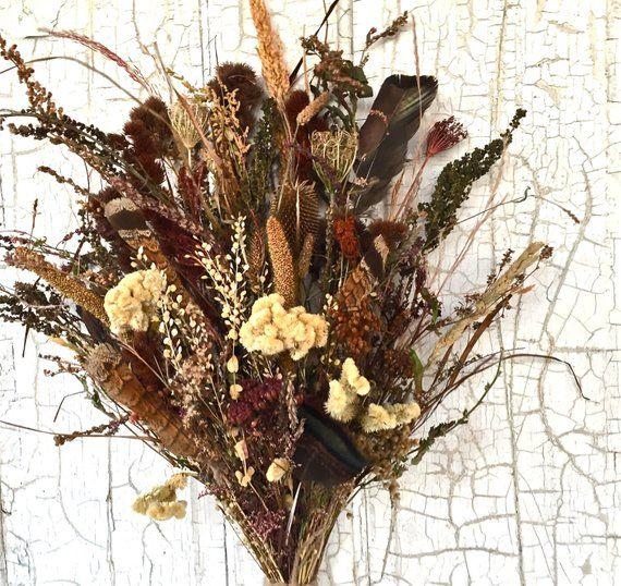 Woodland Natural Wedding Bridal Bouquet Dried Flower