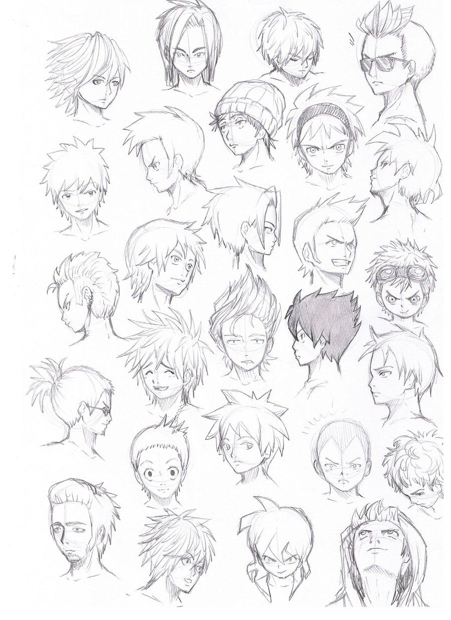 Various Hairstyles Male By Komodo92tenbinza D5crjr8 Jpg 900 1238 Anime Boy Hair Anime Drawings Anime Hair