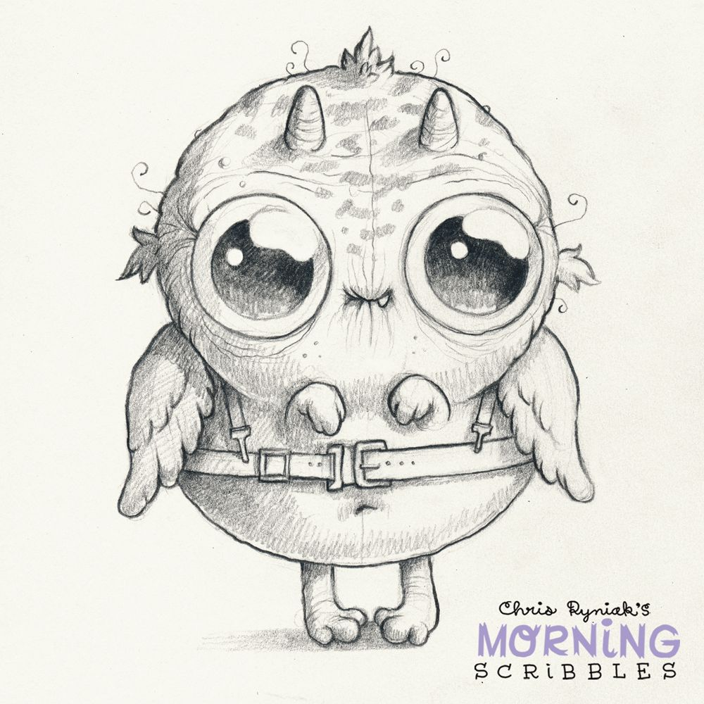 Morning Scribbles 349 Cute Monsters Drawings Creature Drawings