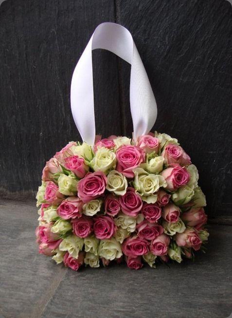 purse - roses | Decoration Ideas | Flowers, Flower bag ...