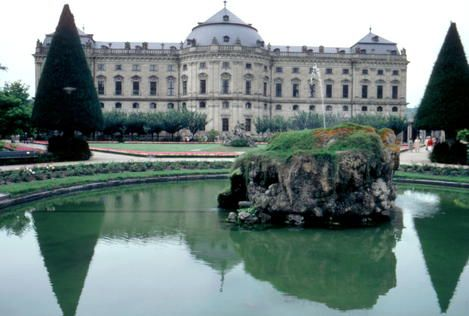 Germany, Würzburg Residence with the Court Gardens and Residence Square