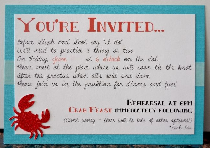 rehearsal dinner invitation wording funny rehearsal dinner