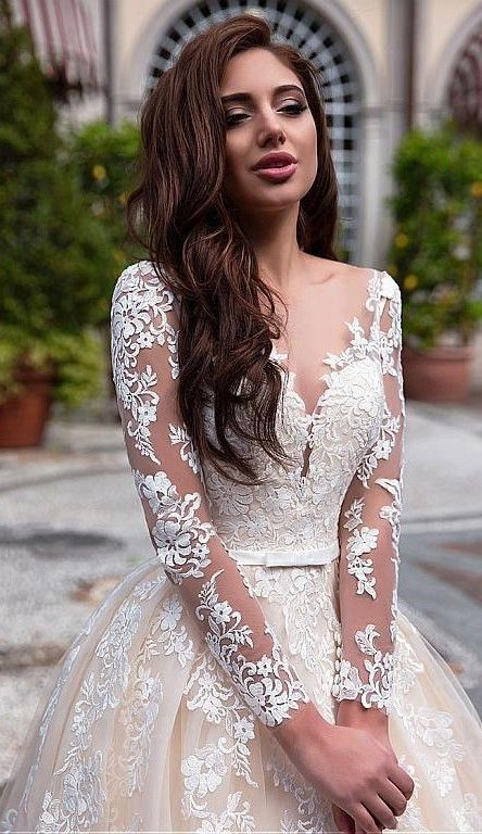 2019 Vintage Champagne A Line Tulle Wedding Dresses Sheer Long Sleeves #zivilhochzeitskleider 2019 Vintage Champagne A Line Tulle Wedding Dresses Sheer Long Sleeves #weddingdresses #wedding #bride #bridal #weddingdresseslace #dreamweddingdresses #bridalgowns #weddingdressinspiration #gorgeousgowns #weddinggowns #bridaldresses #zivilhochzeitskleider