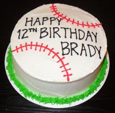 Make it yellow for softball Brooklyn Pinterest Cake