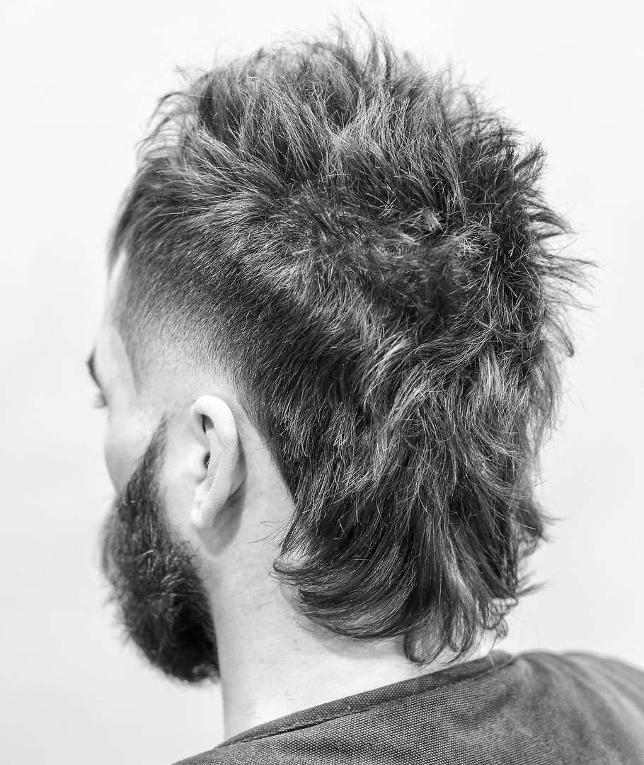 30 Stylish Modern Mullet Hairstyles For Men Mullet Hairstyle Mullet Haircut Mohawk Hairstyles Men