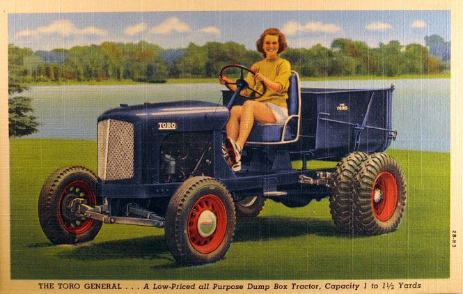 Cute Gal On A Tractor Postcard Images To Print Transfer
