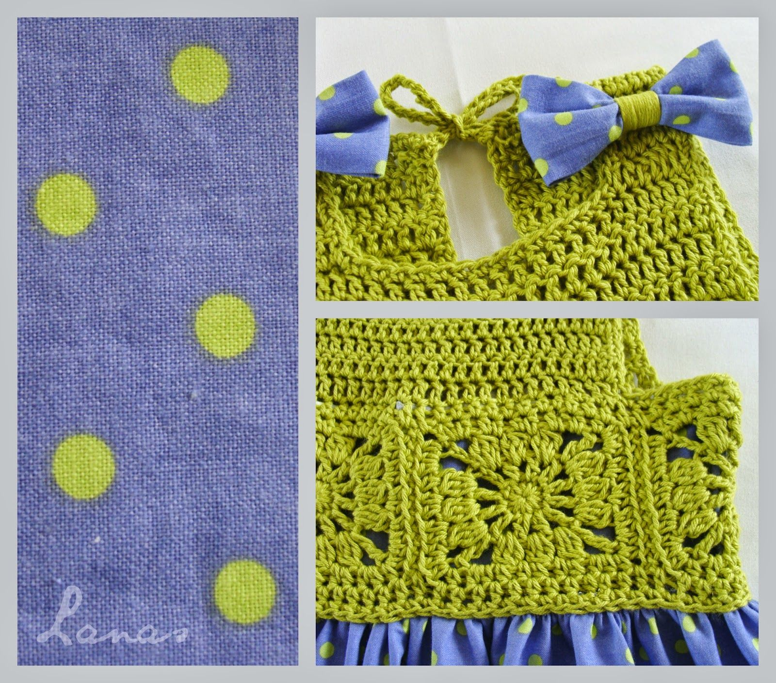 Crochet) And here is the third and final dress for my friend\'s ...