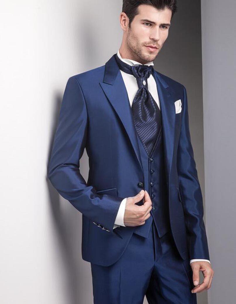 2017 Latest Coat Pant Designs Italian Navy Blue Men Suit Jacket Slim ...